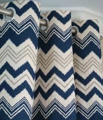 Navy And Grey Curtains Navy Blue Gray Natura Beige Ikat Chevron Zig Zag Zazzle Curtains