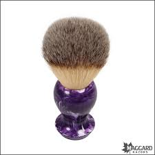 100 butcher block brush maggard razors 30mm black white maggard razors 24mm synthetic shaving brush purple swirl handle