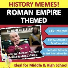 Editable Memes - roman empire ancient rome themed classroom poster set memes tpt