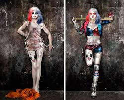 designer halloween costumes new squad concept art u0027s different takes on harley quinn