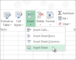 insert or delete a worksheet excel