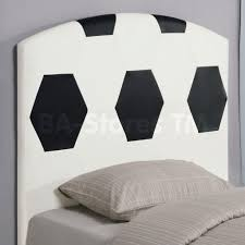 Twin Headboard Upholstered by Bedroom Attractive Football Patterned Twin Headboard Design With