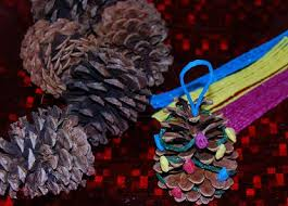 simple pinecone tree ornament craft for preschool the