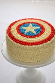 Flag Cakes I Heart Baking Captain America Cake With Flag Inside And Haupia