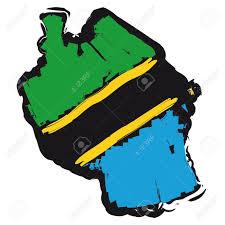 Tanzanian Flag Map Flag Tanzania Royalty Free Cliparts Vectors And Stock