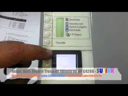 Super Reset, Troca de Idioma e Auto Teste da HP C4280 C4480 C4580  &NU92