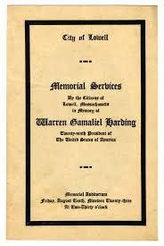 Memorial Booklet Commemorating A President U0027s Life In Stationery And Floral
