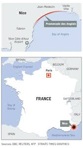 Nice France Map by 84 Killed Many Injured After Van Ploughs Into Crowd In Nice