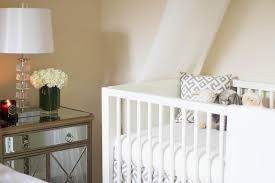 Crib Bed Combo Nursery With Tulle Crib Canopy Transitional Nursery