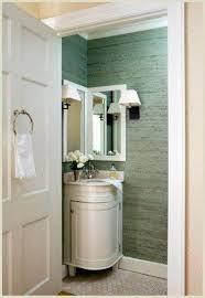 semi circular with round design corner bathroom vanity idea