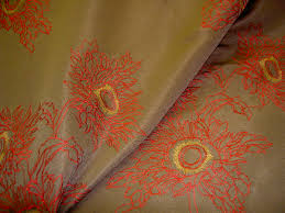 embroidered home decor fabric embroidered silk discounted kavita textile pattern chinese fabric