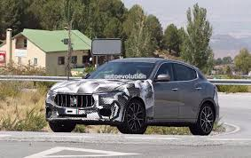 maserati super sport spyshots 2018 maserati levante gts with v8 power tests against
