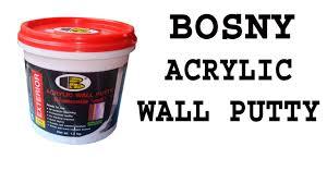 Wall Putty by Bosny Acrylic Wall Putty Youtube