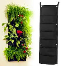 Indoor Wall Planter 2017 Novelty 7 Pockets Vertical Garden Planter Wall Mounted