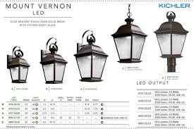Kichler Outdoor Led Lighting by Kichler 9909ozled Olde Bronze Mount Vernon Led Post Light