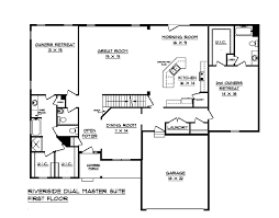 dual master suite home plans riverside dual master suite house plan schumacher homes