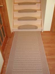 stair traditional stair design with anti slip cream runner carpet