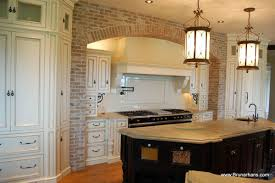 kitchen brick kitchens wall decoration ideas for rustic touch