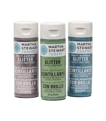 martha stewart 2oz multi surface glitter acrylic craft paint joann
