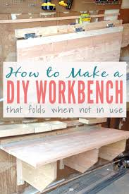 diy folding workbench easy instructions for building a floating