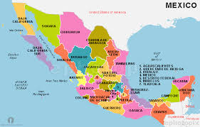 map of mexico with states mexico states map states map of mexico mexico country states map