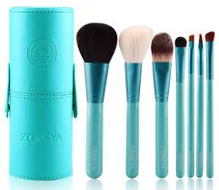 Professional Makeup Tools Amazon Com Makeup Brush Set Blue Cone 7 Zoreya Professional