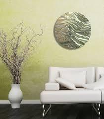 caravan gold u0026 green round metal wall art accent by jon allen