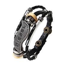 mens charm bracelet images 2018 most popular punk snap button multilayer leather bracelet men jpg
