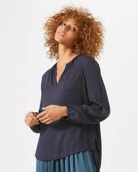 open blouse open neck blouse jigsaw