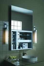 interior lighted medicine cabinet with mirror decorative