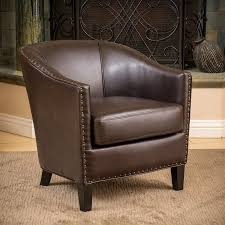 shop best selling home decor austin brown faux leather club chair