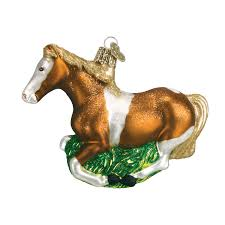 mustang horse old world christmas ornament