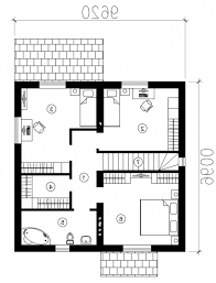 open layout house plans floor plan one with draw square bedrooms beautiful bungalow