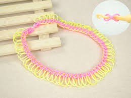 rubber band jewelry make fringe rubber band necklace with hook