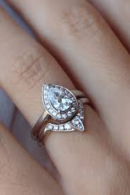 square engagement rings with band pear shaped engagement ring with matching side