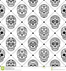 halloween seamless backgrounds halloween seamless pattern mexican sugar skull vector design dia