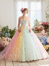 colorful wedding dresses pretty rainbow wedding dress topup wedding ideas