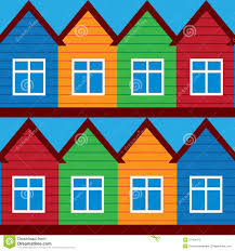 painted houses vector houses colored painted houses royalty free stock photo