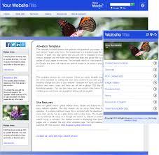 blue white chrome butterfly website template sample u0026 mobile version