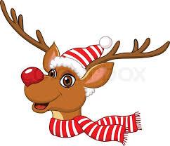 christmas deer christmas reindeer rudolf stock vector colourbox