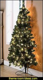 half tree prelit interesting decoration half