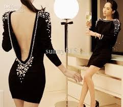 korean spring women bodycon mini dress pencil dresses back