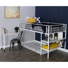 Bunk Bed Concepts Metal Loft Bed With Workstation Mint Green Footprints