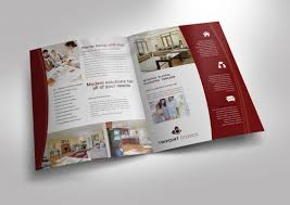 11x17 brochure template half fold brochure template for design company marketing materials