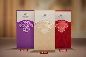 sle wedding invitation three colors laser cut wedding invitations cards hollow out