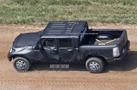 2016 jeep wrangler black bear jeep wrangler pickup spotted for the first time motor trend