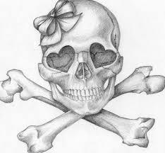 girly skull idea sketch tats girly