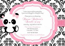 panda baby shower invitations party xyz