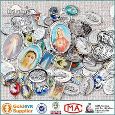 religious charms wholesale epoxy metal christian charms religious medals