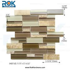 Subway Meadow Glass  Stone Mosaic Backsplash Tile  X - Backsplash stone tile